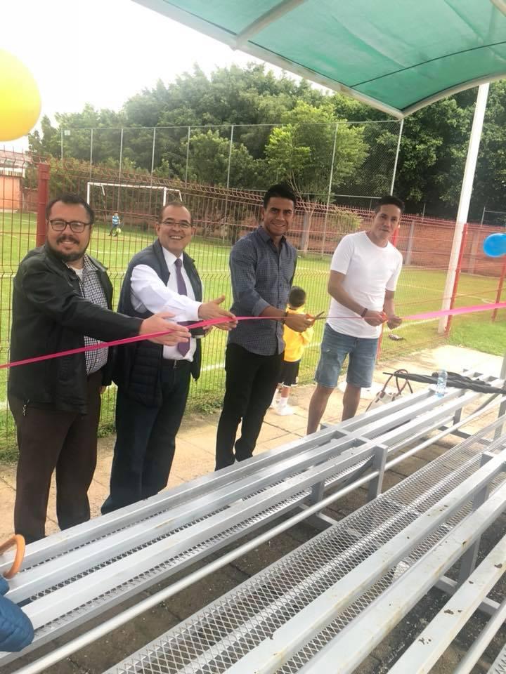 Inauguración de gradas deportivas